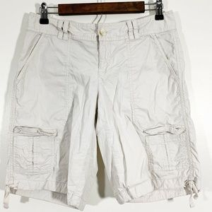 LOFT Tan Marisa Cargo Bermuda Walking Shorts Siz 4